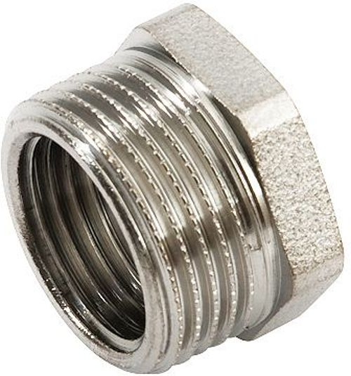 "REDUCTION FIL. LAITON 3/4""M-1/2""F CHROME"