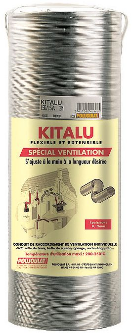 FLEXIBLE ALUMINIUM KITALU 105MM 3M