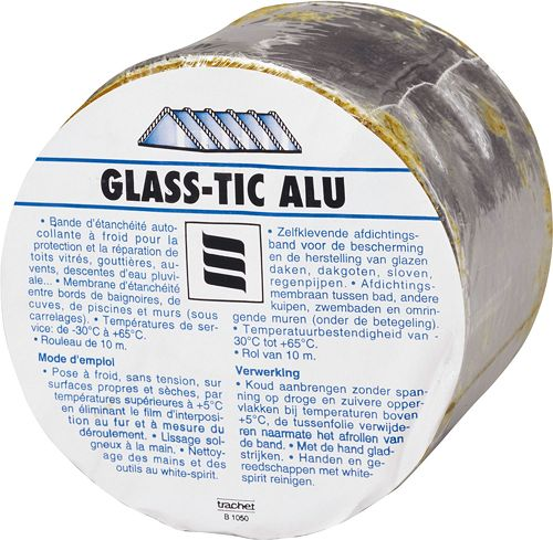 GLASS-TIC ALUBAND 10 CM BREEDTE ROL 10M