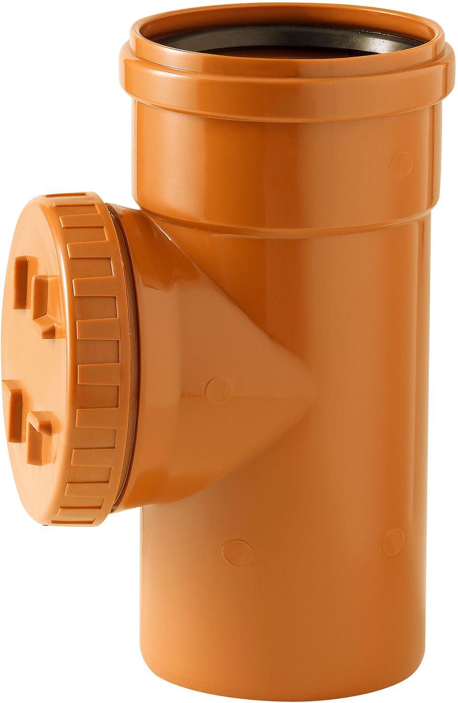 PVC INSPEKTIE T 90° RIOOL 125MM RO/BR