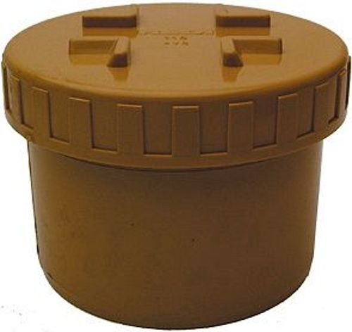 BOUCHON A VISSER PVC EGOUT 160MM RO/BR