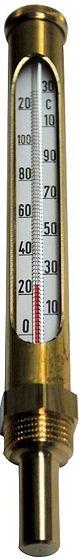 """PETIT THERMOMETRE DROIT 1/2""""0/130°"""