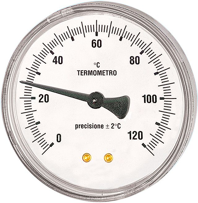 BIMETAAL THERMOMETER T 100/50 1/2""