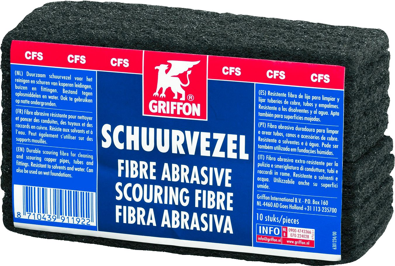 FIBRE ABRASIVE DUROLIN PAQUET 10PIECES
