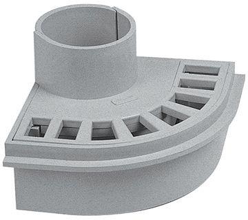 PASS.BALCON-TERRAS.PVC NICOLL 100MM GRIS