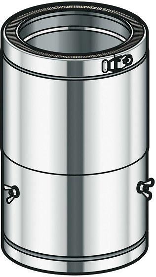 THERM-INOX VERSTELB.BUIS 35-45CM  80MM