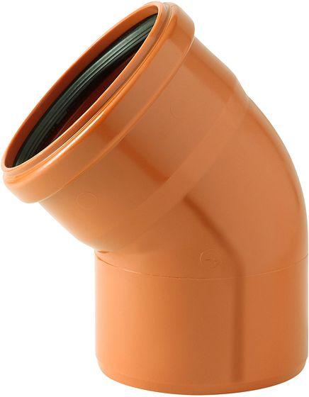 COUDE PVC EGOUT 45° 200MM ROUGE/BRUN