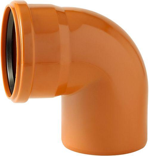 PVC ELLEBOOG RIOOL 110MM 90° ROOD/BRUIN