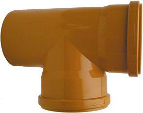 T PVC EGOUT 90° 110MM ROUGE/BRUN