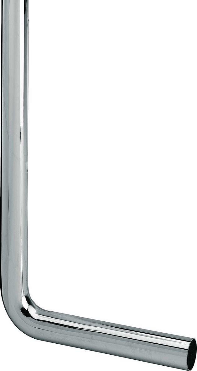 VLOERBUIS CHROOM 32MM 90° 220-680