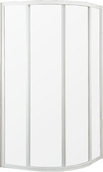 PORTE 1/4-ROND MIAMI 90-90 H185 BL-CLAIR