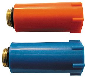 "PVC BOUWSTOP ROOD  1/2"" MESSING DRAAD"