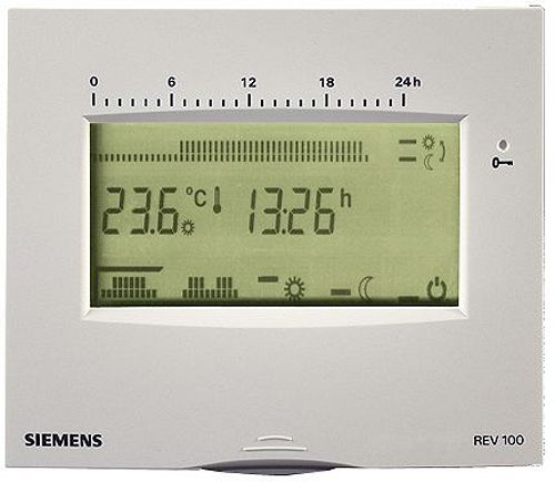 KLOKTHERMOSTAAT SIEMENS REV100 WIT