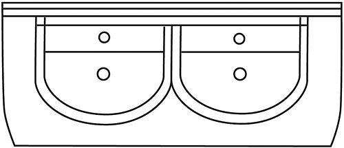 TABL.GEÏNT.LAV.FIMS ATLAS/MARS 130CM WIT