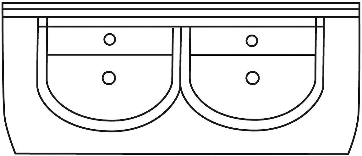 TABL.LAV.INTEGR.FIMS ATLAS/MARS 130CM BL