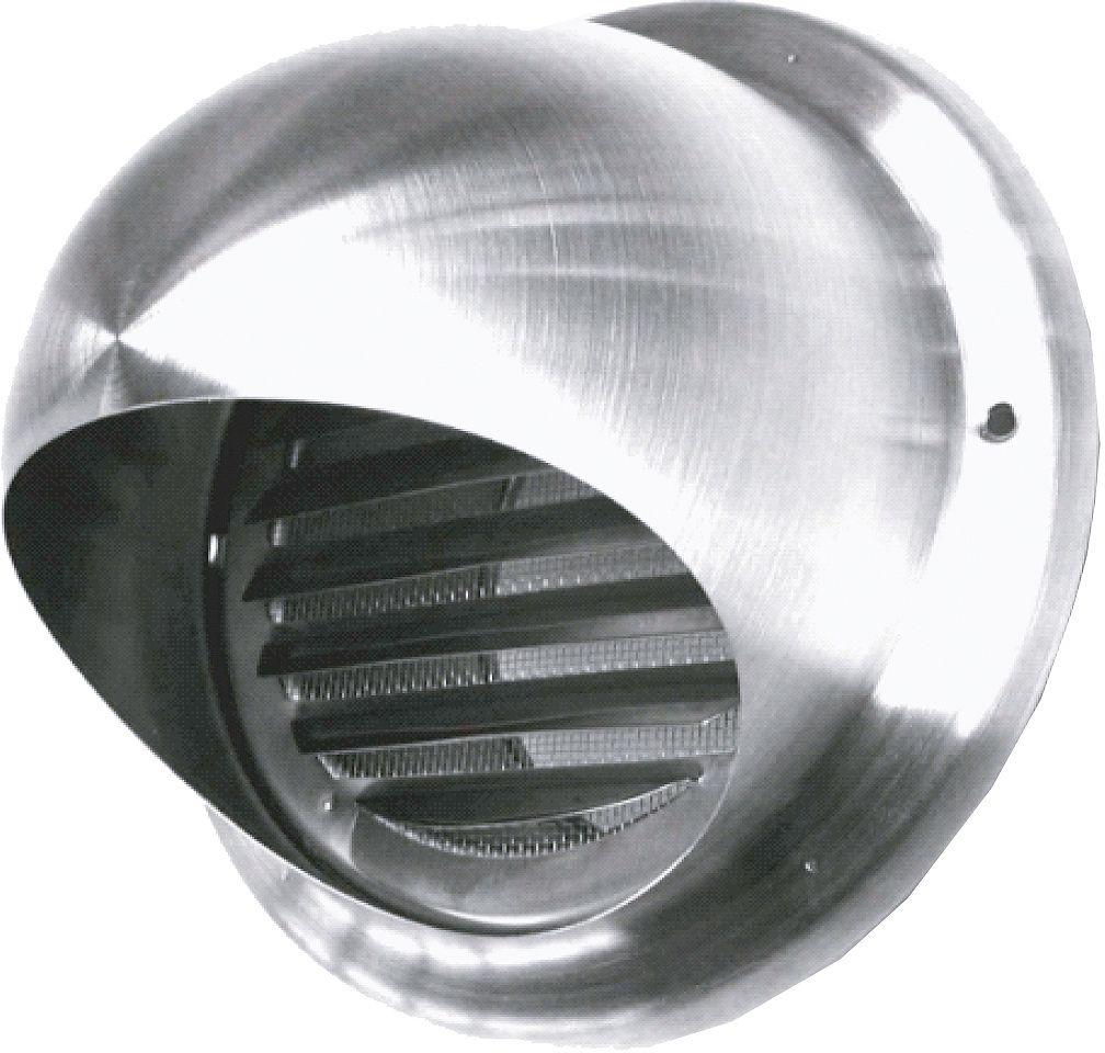 VERLUCHT.ROOSTER INOX 150MM SUS <450M³