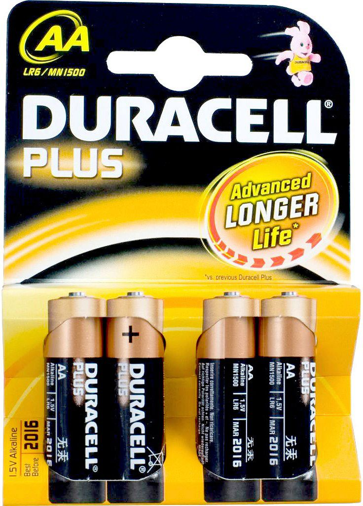 PILES DURACELL AA 4 PC MN1500 ALCALINE