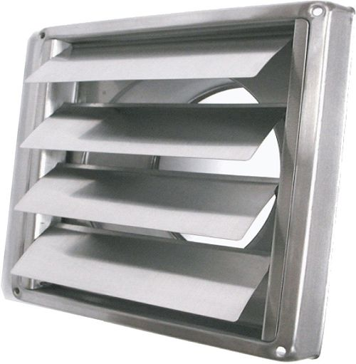 GRILLE DE PULSION INOX 125MM TYPE SMS