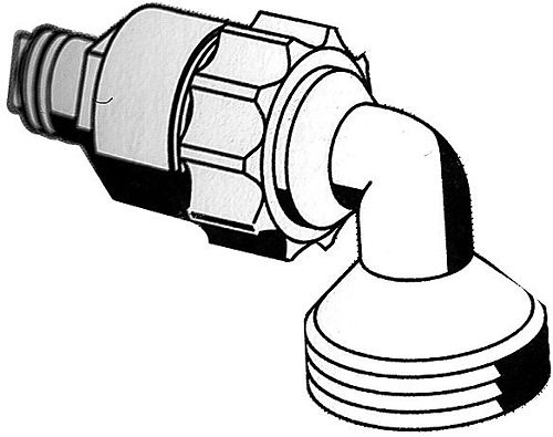 "SPOELADAPTER QUICK SCHELL 3/4"" CHROOM"