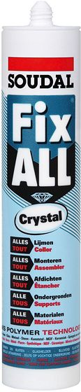 SOUDAL FIX-ALL CRYSTAL CARTOUCHE 290ML