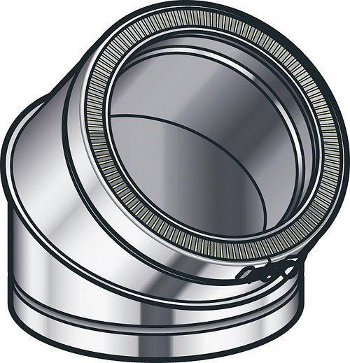 THERM-ALU BOCHT 45GR 250MM