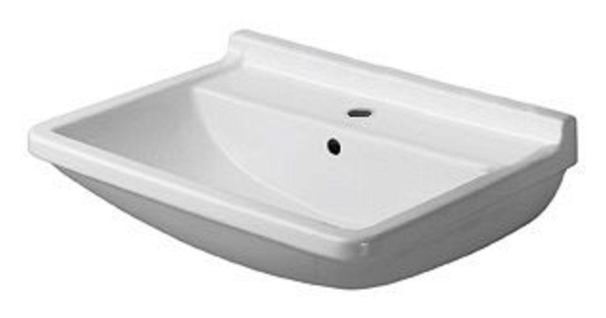 lavabo starck 3 duravit 50cm blanc. Black Bedroom Furniture Sets. Home Design Ideas