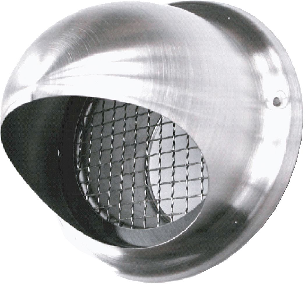 GRILLE DE PULSION INOX 125MM SV