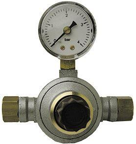 """REG.ONTSP.V FLES.GAS 0-3B 10KG/H 1/4""""F"""