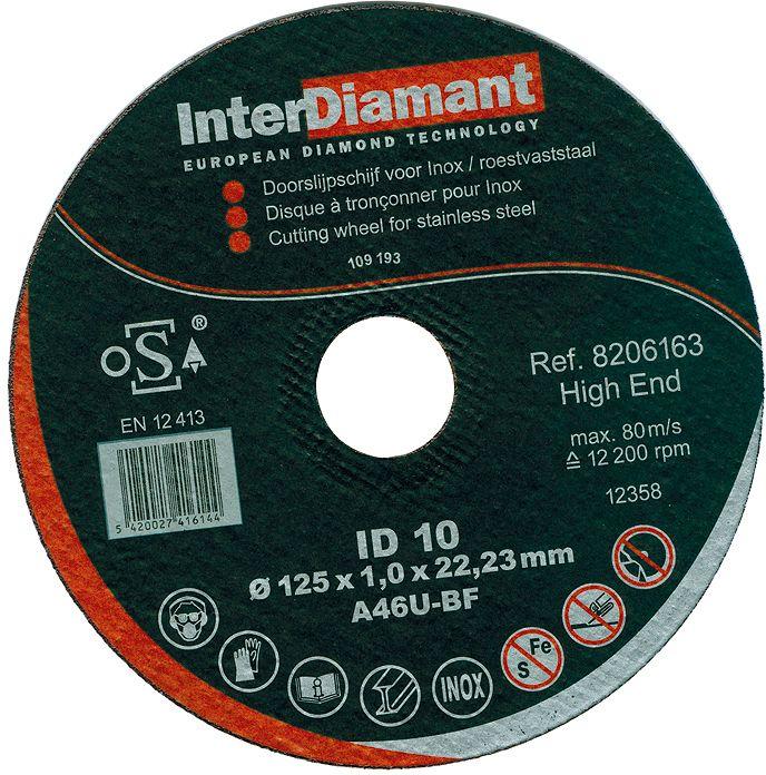 MEULE  ID10 DIAM 125-1-22.2 INOX