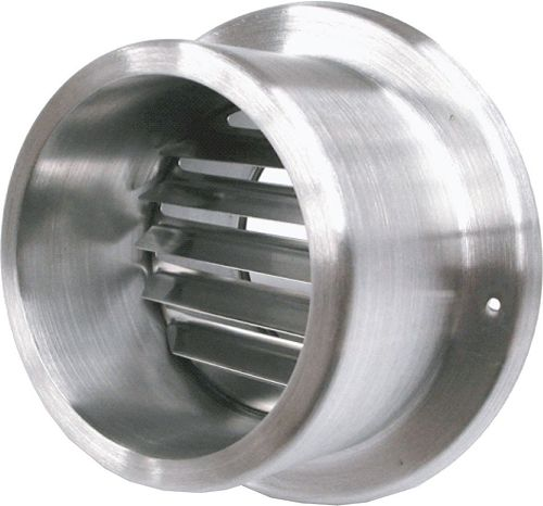 GRILLE D'AERATION INOX 125MM SUF