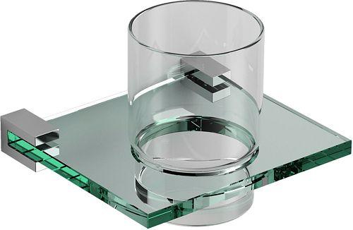 BEKERHOUDER QUADRIA CLOU GLAS/CHROOM