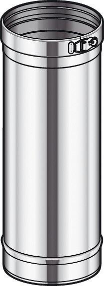TUBE SMPL PAROI INOX COND.POUJ. 80 45CM