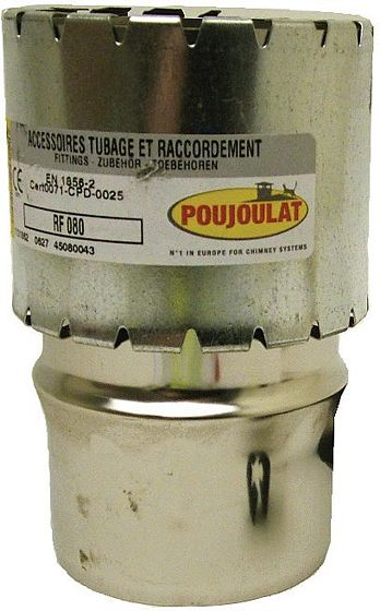 RACC.FLEXIBLE-FIXE CONDENSEUR POUJ.80MM