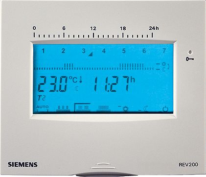 KLOKTHERMOSTAAT SIEMENS REV200 WIT