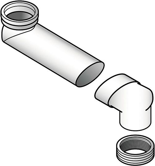 AFVOER SPRONGBOCHT GEB.90/110 PVC GRIJS