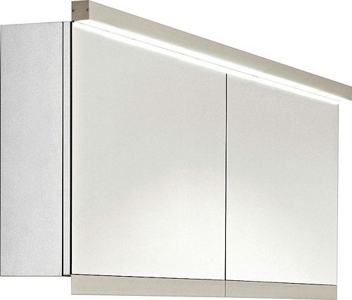 ARMOIRE TOIL.C40 NEW+LUM.HOR.157CM BLANC