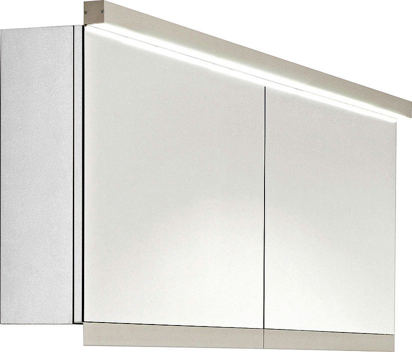 ARMOIRE TOIL.C40 NEW+LUM.HOR.117CM BLANC