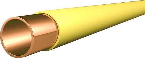 TUY.CUIVRE+PVC JAUNE 28-1MM D LG 5M PM