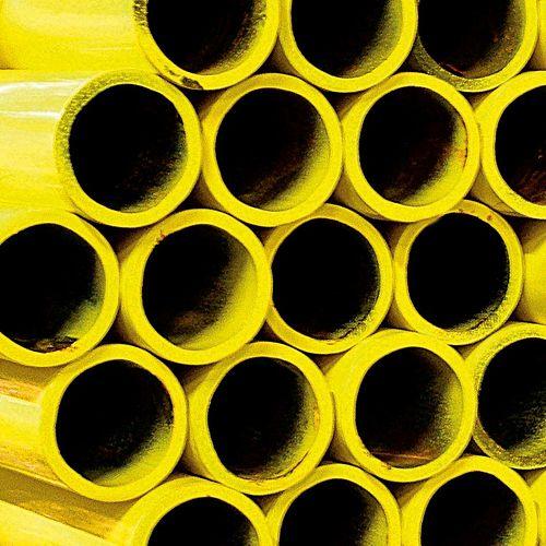 """TUBE ACIER JAUNE P.SOUDER 6M PAR M  3/4"""""""