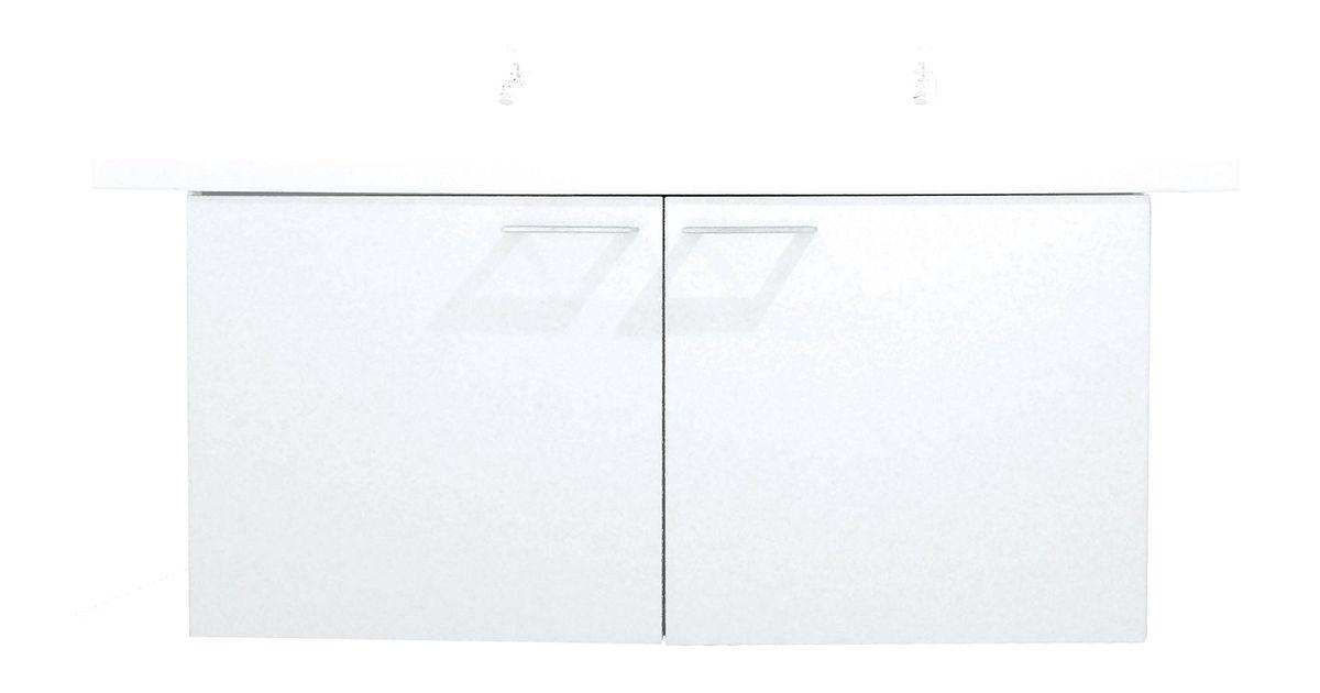 Onderbouw bizzy bis 2 deur 110cm wit for Badkamermeubel desco