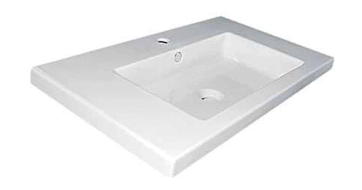 Nieuwe Badkamer Berekenen ~ lavabo newform 60x46cm porselein wit  desco be