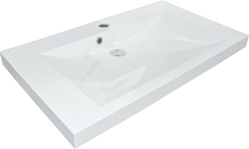 TABLET KUNSTM.CITY 80X40,6 1 LAVABO WIT