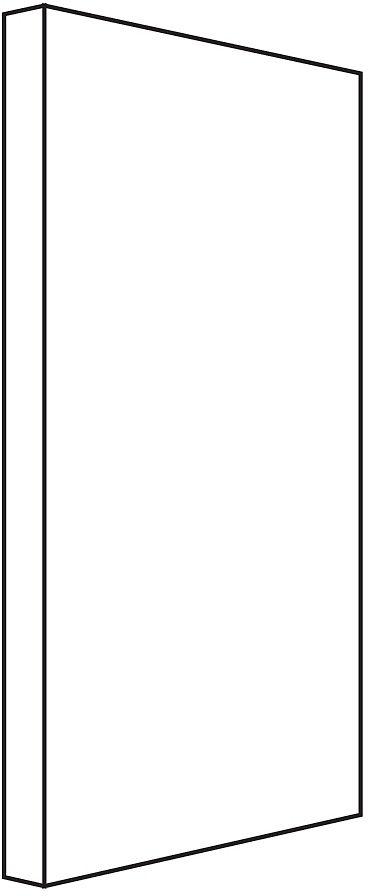 PANNEAU LATERAL NEWFORM 74,5-5CM BLANC