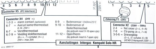 STICKER AANSL.BEDRADING INTERGAS SOLO
