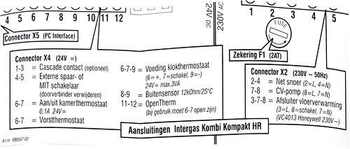 STICKER AANSL.BEDRADING INTERGAS COMBI