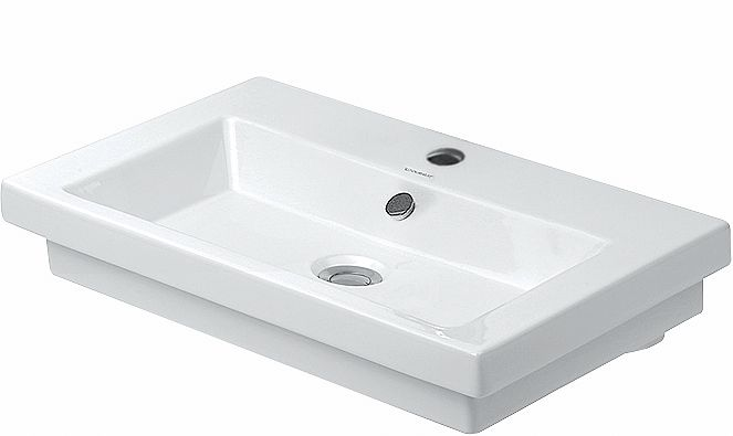 LAVABO 2ND FLOOR DUR.60CM+TR.ROB.BLANC