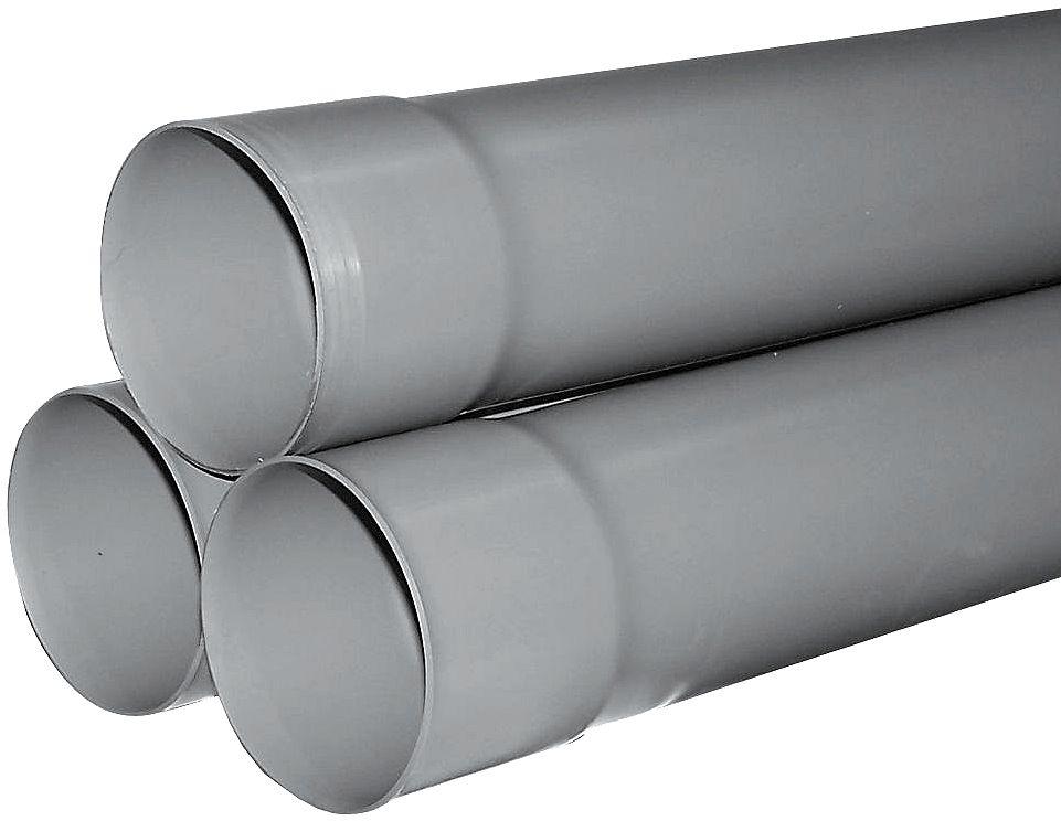 TUBE PVC GRIS CLAIR 80MM 4M LA LONGUEUR