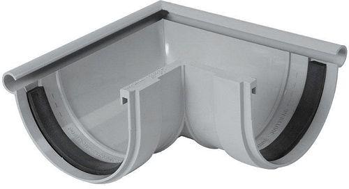 ANGLE EXTERNE PVC GOUTT.125MM GRIS CLAIR