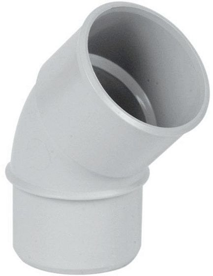 COUDE PVC ROND BLANC 67GR.80MM