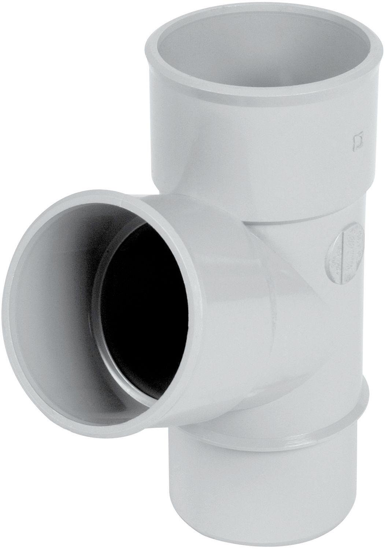 PVC T LICHTGRIJS ROND 67° 80MM
